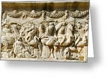 Stone Carving On Mausoleum Of The Julii Greeting Card