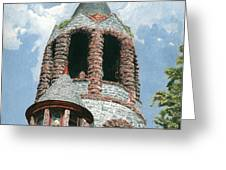 Stone Church Bell Tower Greeting Card by Dominic White