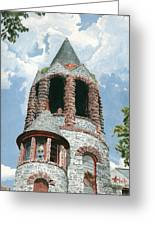 Stone Church Bell Tower Greeting Card