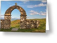Stone Church In Autumn Greeting Card