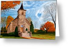 Stone Church Greeting Card