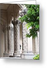 Stone Columns Greeting Card