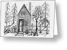Stone Cottage Greeting Card