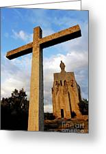 Stone Crucifix Greeting Card