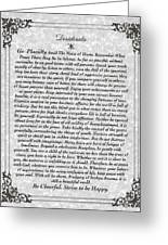 Stone Fancy Desiderata Poem Greeting Card