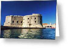 Stone Fortress In Dubrvnik King's Landing Greeting Card