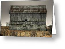 Stone Foundation Barn Greeting Card