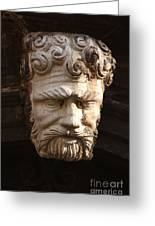 Stone Head In Venice Greeting Card