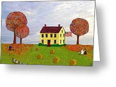 Stone House In Autumn Greeting Card