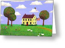 Stone House In Summer Greeting Card