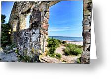 Stone House Sea Side Greeting Card