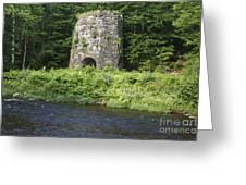 Stone Iron Furnace - Franconia New Hampshire Usa Greeting Card