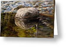 Stone Landscape Original Oil Painting Greeting Card