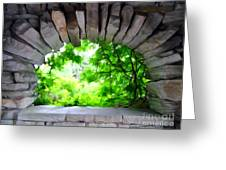 Stone Lookout Greeting Card