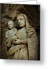 Stone Madonna And Child Greeting Card