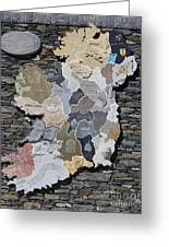 Stone Map Of Ireland Greeting Card