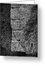 Stone Mason Scars Monochrome Greeting Card