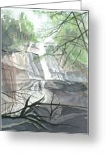 Stone Mountain Falls - The Upper Cascade Greeting Card