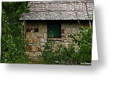 Stone Outhouse 1 Greeting Card