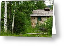 Stone Outhouse 2 Greeting Card