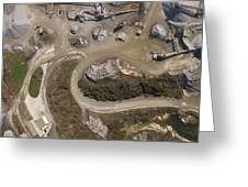 Stone Quarry Aerial Greeting Card