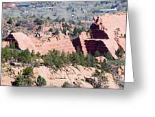 Stone Quarry In Red Rock Canyon Open Space Park Greeting Card