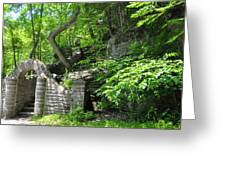 Stone Stairway Along The Wissahickon Creek Greeting Card