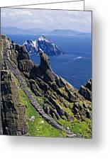 Stone Stairway, Skellig Michael Greeting Card