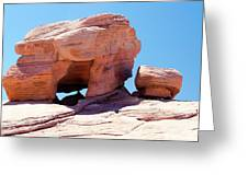Stone Temple Valley Of Fire Greeting Card