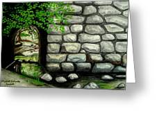 Stone Tunnel Greeting Card