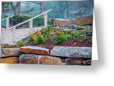 Stone Wall And Stairs Greeting Card
