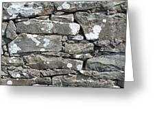Stone Wall Detail Doolin Ireland Greeting Card