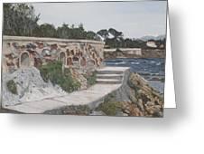 Stone Wall France Greeting Card