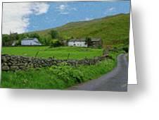 Stone Wall Lake District - P4a16012 Greeting Card