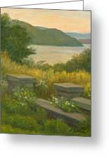 Stone Wall On The Hudson Greeting Card