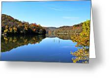 Stonecoal Lake In Autumn Color Greeting Card