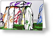 Stonehenge Chakras Greeting Card