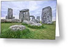 Stonehenge In England Greeting Card
