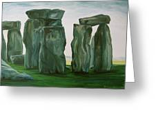Stonehenge In Spring 2 Greeting Card