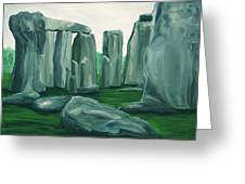 Stonehenge In Spring Greeting Card