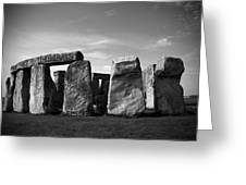 Stonehenge No 1 Bw Greeting Card by Kamil Swiatek