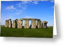 Stonehenge On A Clear Blue Day Greeting Card by Kamil Swiatek