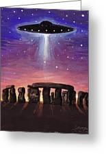 Stonehenge Ufo Greeting Card