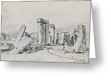 Stonehenge Wiltshire Greeting Card
