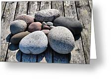 Stones And Old Wood 3  Greeting Card