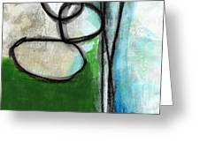 Stones- Green And Blue Abstract Greeting Card