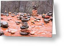 Stones In Balance Greeting Card