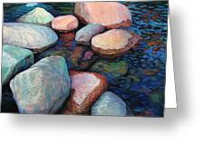 Stones Of The Lake Greeting Card