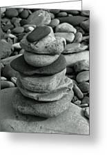 Stones Still Life Monochrome Greeting Card
