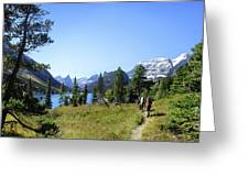 Stoney Indian Pass Trail Around Cosley Lake - Glacier National Park Greeting Card